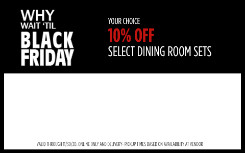 10% Off Select Dining Sets